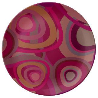 Organic pink porcelain plates