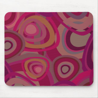 Organic pink mouse pad