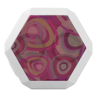 Organic pink white bluetooth speaker