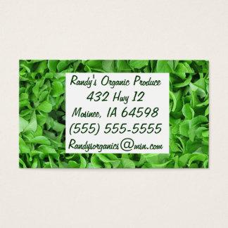 Organic produce business cards