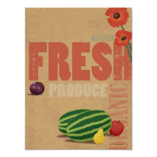 Organic Produce Posters