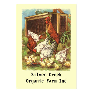 Organic Product Tags chickens eggs Farmers market Large Business Card