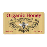 Organic Queen Bee Stripes Personalized Shipping Label