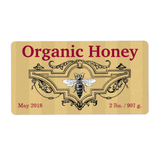 Organic Queen Bee Stripes Label