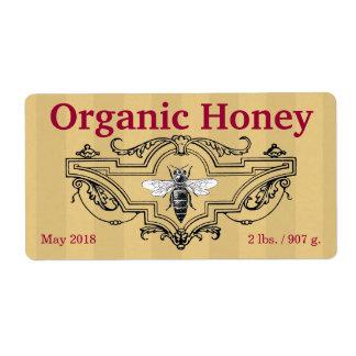 Organic Queen Bee Stripes Label