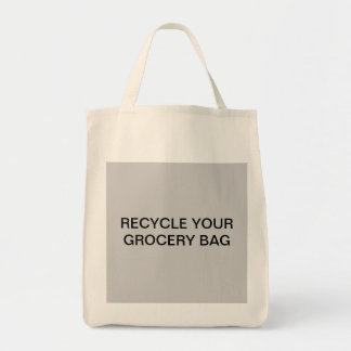 ORGANIC RECYCLE YOUR GROCERY BAG BAG