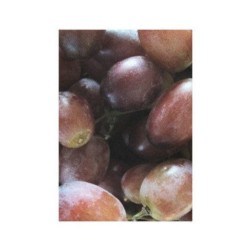 ORGANIC RED GRAPES WRAPPED CANVAS PRINT