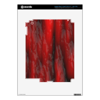Organic Red Special Effects 2D Electronics Skins iPad 3 Decal