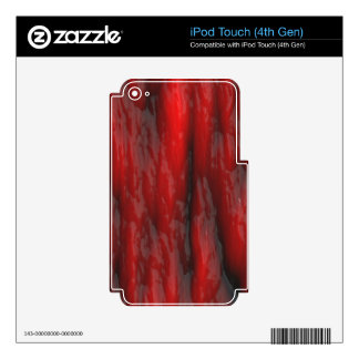 Organic Red Special Effects 2D Electronics Skins iPod Touch 4G Skins