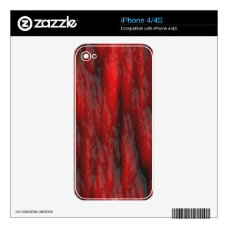 Organic Red Special Effects 2D Electronics Skins Skin For The iPhone 4