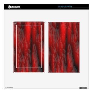 Organic Red Special Effects 2D Electronics Skins Skins For Kindle Fire