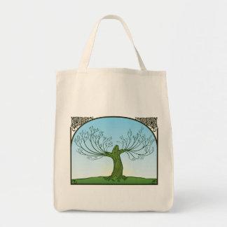 Organic 'regrowth' tote canvas bag