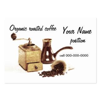 organic roasted coffee business card