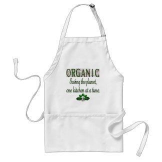 Organic Saving the Planet Green Saying Apron