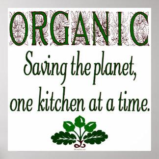 Organic Saving the Planet Kitchen Print