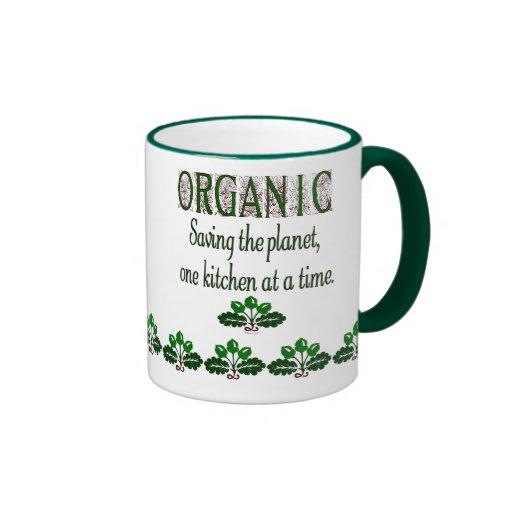 Organic Saving the Planet Kitchen Saying  Mug