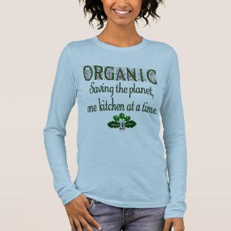 Organic Saving the Planet Kitchen Saying T-shirt