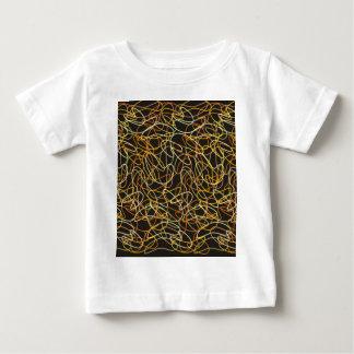 Organic Shapes in Orange, Gold & Yellow on Black Baby T-Shirt