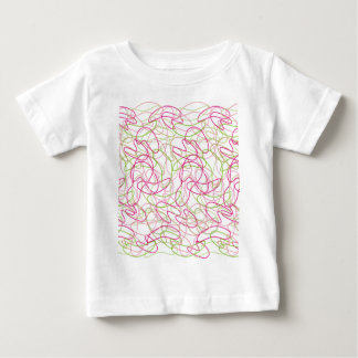 Organic Shapes in Pink, Gold and Green White Backg Baby T-Shirt