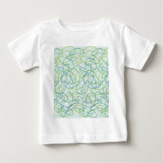 Organic Shapes in Teal, Gold, and Green on Teal Baby T-Shirt