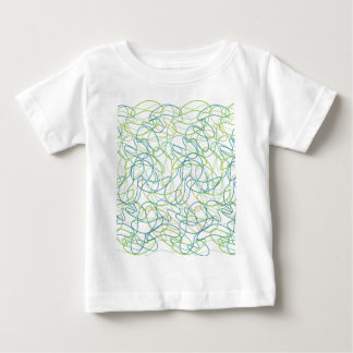 Organic Shapes in Teal, Gold, and Green on White Baby T-Shirt