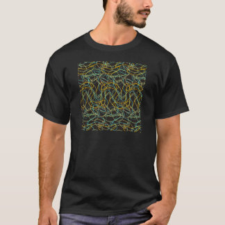 Organic Shapes with Black Background T-Shirt
