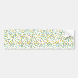 Organic Shapes with White Background Bumper Stickers