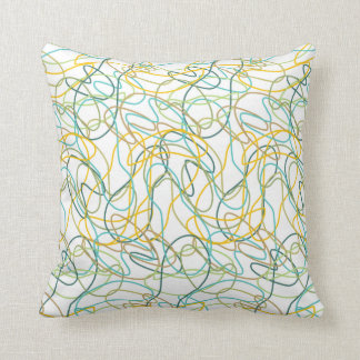 Organic Shapes with White Background Pillow