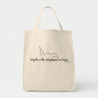 Organic Shopping Tote: Angels with Misplaced Wings Tote Bag