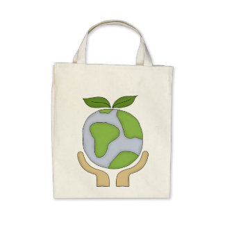 Organic Shopping Tote-Go Green Environment Tote Bags