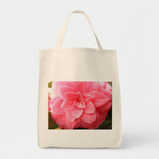 Organic Shopping Tote with Camellia flower