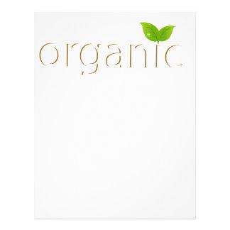 Organic sign flyer