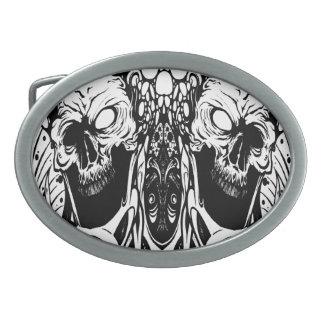 organic skull belt buckle