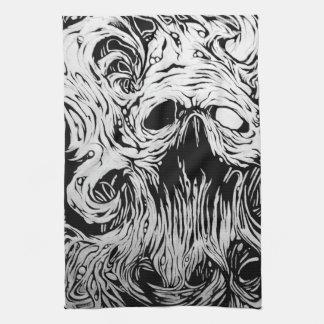 organic skull kitchen towel