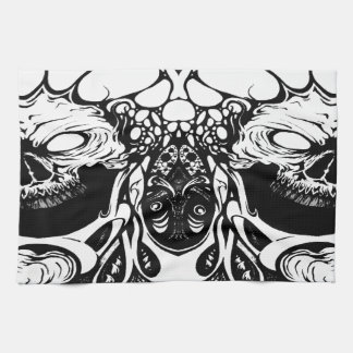 organic skulls kitchen towel