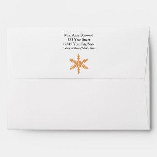 Organic Snowflakes with Address Envelope