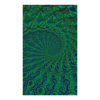 Organic Spiral Duality Poster