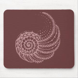 Organic spiral pink mouse pad