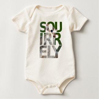 "Organic ""Squirrely Baby Bodysuit"