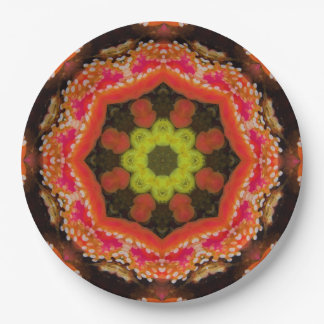 Organic Star Mandala Paper Plate