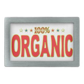 Organic Star Tag Rectangular Belt Buckle