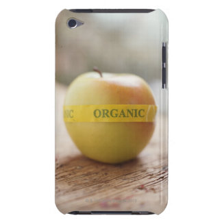 Organic sticker on apple barely there iPod cover
