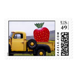 Organic Strawberry Postage Stamp