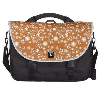 Organic swirly pattern laptop bag