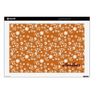 Organic swirly pattern laptop skins