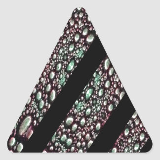 Organic Texture Stripe Pattern Triangle Sticker