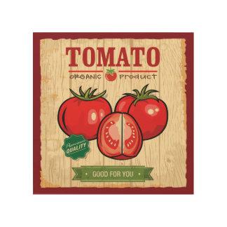 """Organic Tomato 8""""x8"""" Wood Wall Art"""