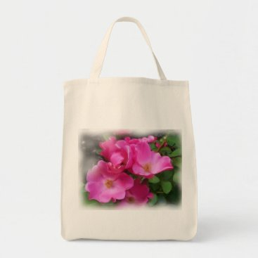 TheTrowel organic tote with rose print