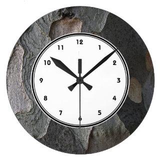 Organic Tree Bark photo print wall clock