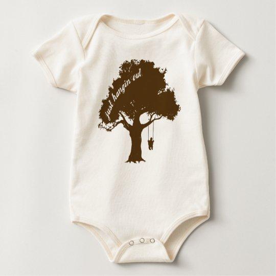Organic tree swing baby bodysuit
